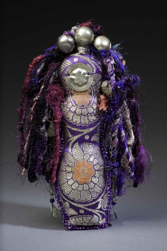 RESERVED Tribal (bead embroidered sari fabric doll)