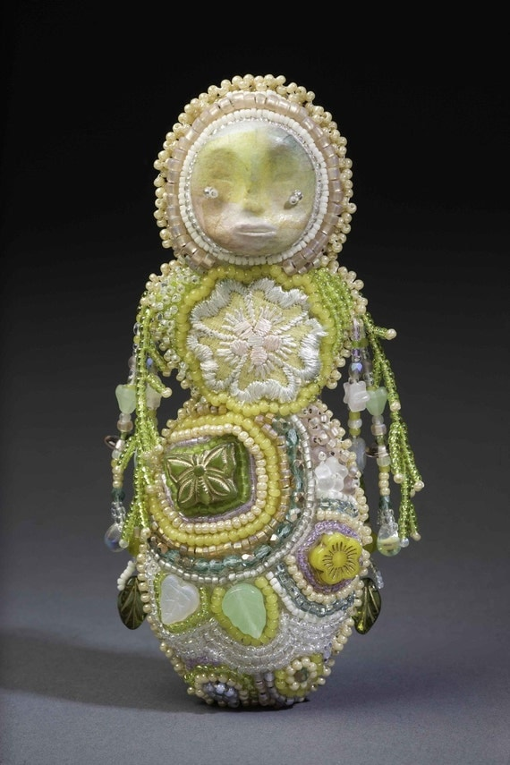 Healer (bead embroidered doll)