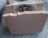 VEGAN-Raspberry Sorbet Natural Luxury Soap Bar 2 SLICES