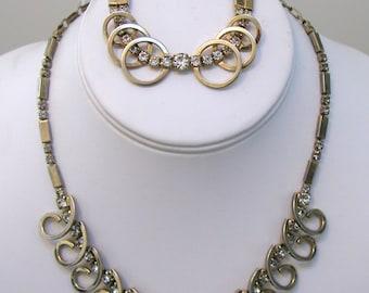 Sarah Coventry Necklace and Bracelet Set - Celestial Fire