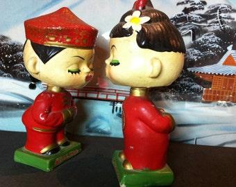Vintage Kissing Bobble Heads
