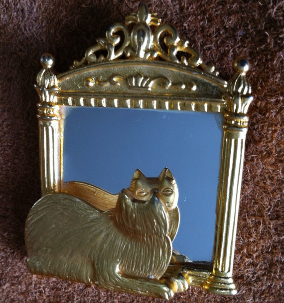 Reserved for EmilyOlga - MEOW Cat Looking Into Mirror