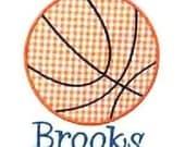 Basketball Applique Design Machine Embroidery Design INSTANT DOWNLOAD