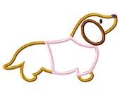 Wiener Dog shirt Dachsund Applique Machine Embroidery Design INSTANT DOWNLOAD