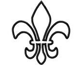Fleur De Lis Applique Machine Embroidery Design INSTANT DOWNLOAD