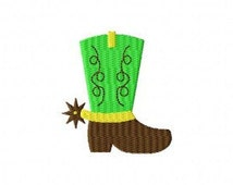 Cowboy Boot Spur MINI Made To Match Filled Stitch Machine Embroidery Design INSTANT DOWNLOAD