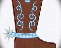 Cowboy Boot Spur Applique Machine Embroidery Design INSTANT DOWNLOAD