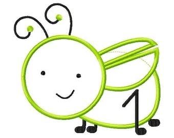 Baby Grasshopper Applique design Machine Embroidery Design INSTANT DOWNLOAD