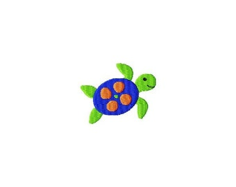 Sea Turtle MINI Filled Stitch Machine Embroidery Design INSTANT DOWNLOAD