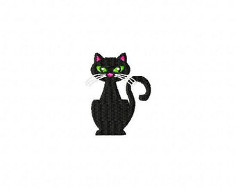 Miss Kitty MINI Made To Match Filled Stitch Machine Embroidery Design INSTANT DOWNLOAD