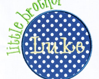 Sibling Circle Patch Applique Machine Embroidery Design INSTANT DOWNLOAD Big Little Middle Sister Brother Cousin