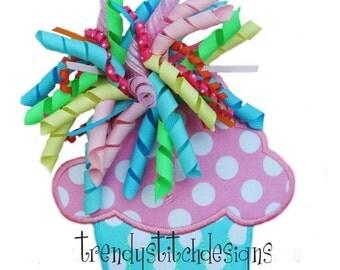Cupcake 1 Applique Design Machine Embroidery Design INSTANT DOWNLOAD