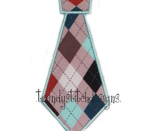 Tie Applique Design Machine Embroidery INSTANT DOWNLOAD
