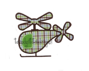 Helicopter applique machine embroidery design Patch INSTANT DOWNLOAD