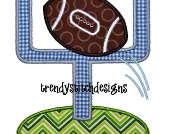 Football Goal Applique Machine Embroidery Design INSTANT DOWNLOAD
