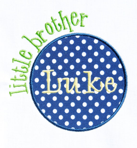 Sibling Circle Patch Big Little Middle Sister and Brother Applique Machine Embroidery Design INSTANT DOWNLOAD
