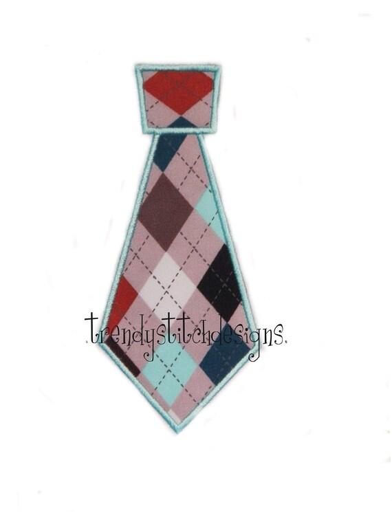 Tie Applique Design Machine Embroidery INSTANT DOWNLOAD