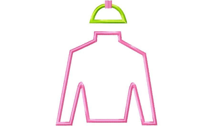 Jockey Silks Clipart Jockey silk applique machine