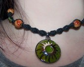 Black Hemp Choker with Sun Pendant
