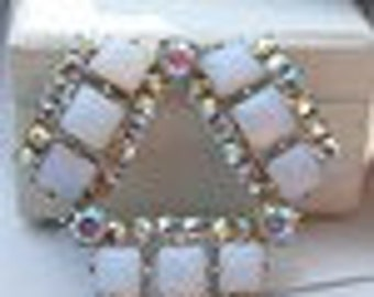 AB Crystal Art Deco Brooch