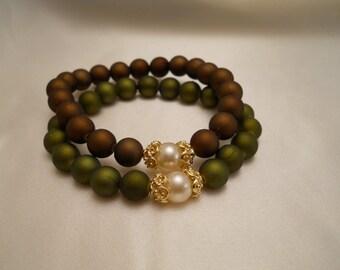 Acrylic Rubber Coated Beads: