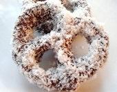 LARGE Chocolate Snow Pretzels - When Craving the Best - Organic Coconut - Gourmet Pretzels - Chocolate Treats - Pernilla's - Gourmet Candy
