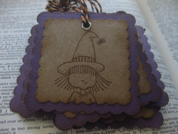 Purple Witch Tags