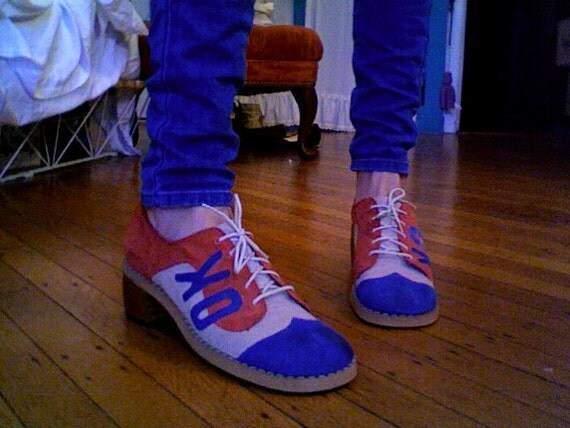 Miss America Suede Lace-Up ''OK'' Shoes