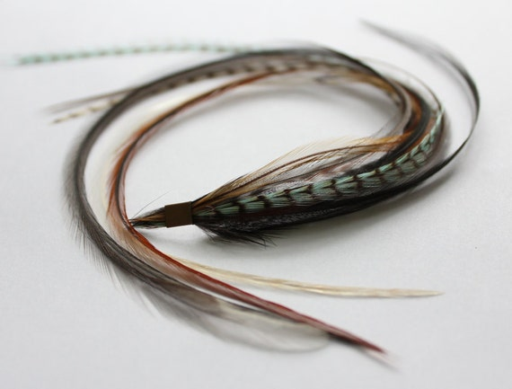 Blue Bird - Super Long Feather Extension on Microbead