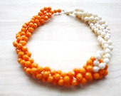 Custom order for Kelly - Orange and Cream Colored Twisth Necklace