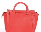 Neon Red Coral Handbag Purse - Barcelona