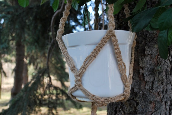 ECO Friendly Macramé plant hanger Rustic Style