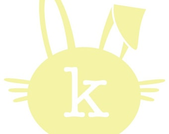 Easter Bunny Silhouette Design