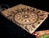 Pyrographed Henna Mehndi Cork Journal