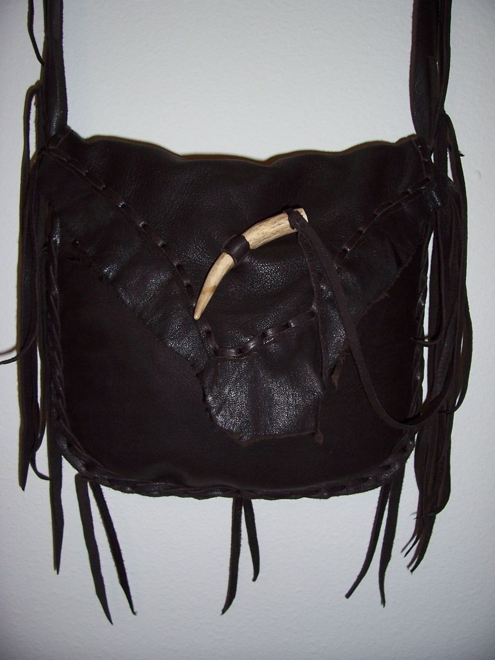 leather possibles bag mountain black powder by