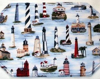 Placemats - USA Lighthouses (Set of 4)