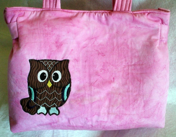 SALE! Owl Purse - Owl in the Pink