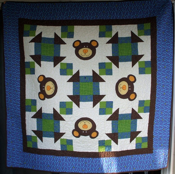 "Quilt - Teddy Bear Applique 52"" X 52"""