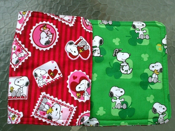 Table Runner - Snoopy Valentine and Snoopy St. Patricks Day, Reversible