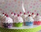 Mini Cupcake Ornaments 12 pack #CUP109