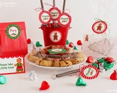 Gingerbread woman DIY favor circle tags - great for a Christmas cookie exchange party #PRN104