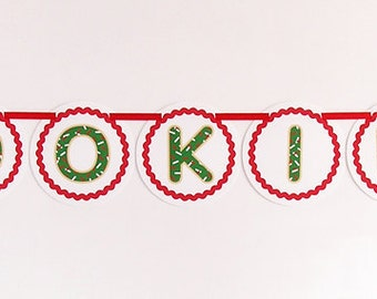 Cookies DIY banner - great for a Christmas cookie exchange party and bake sale #PRN107