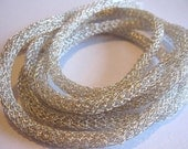 Wire knit cord, Silver color Nro 19