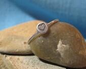 Tiny Heart Commitment Ring Silver Stacking Bridal Keepsake Gift JJDLJewelryArt