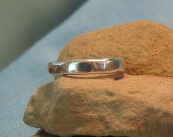 Mens Wedding Ring Large Plus Size Silver Mans Band Organic Heavy  JJDLJewelryArt