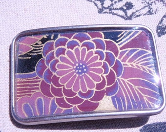 Hey Fancy Pants, Nice Belt Buckle - Pretty Flower- Awesome Chiyogami that goes with everything