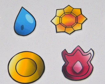 Pokemon Kanto League Badges Generation One