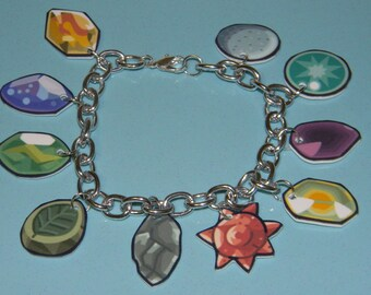 Pokemon Evolution Stones Charm Bracelet