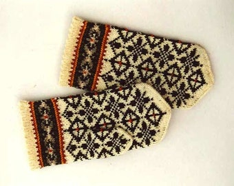 Wool Mittens / Nordic mittens / Christmas gift / Mittens / Warm mittens / High quality wool mittens / Style mittens / knitted wool mittens