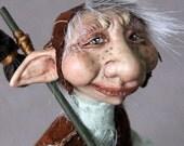 Art Doll One of a Kind Oscar the Troll Fantasy Sculpture